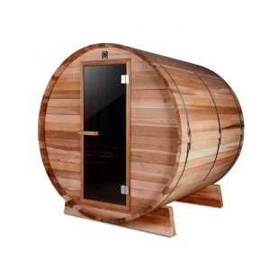 (GÁMATILBOÐ) *Forpöntun*Sauna tunna með rafkyndingu (sedrusviður)