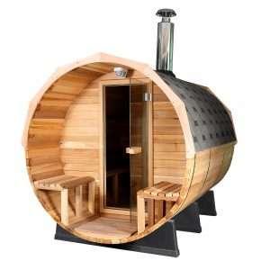 (GÁMATILBOÐ) Sauna tunna með viðarkyndingu (Fura)