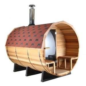 (GÁMATILBOÐ) Sauna tunna með panoramic view og viðarkyndingu (sedrusviður)