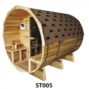 (GÁMATILBOÐ)*Forpöntun* Sauna tunna með panoramic view og rafkyndingu (Sedrusviður)